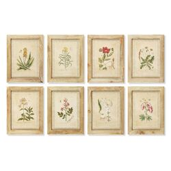 English Garden 8 Piece Framed Painting Print Set