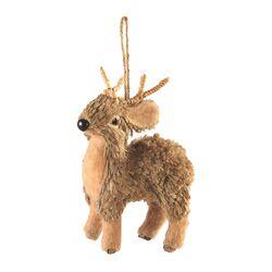 Sierra Lodge Jute and Sisal Reindeer Ornament (Set of 6)