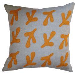 Bird's Feet Applique Pillow
