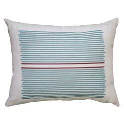Hand Printed Louis Stripe Pillow