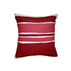 Color Block Applique Pillow