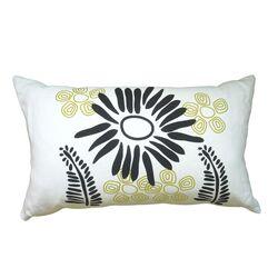 Hand Printed Fern Pillow