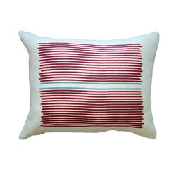 Hand Printed Louis Stripe Pillow