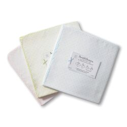 Ultimate Receiving Blanket� in Pastel with Polka Dots and Pastel Trim