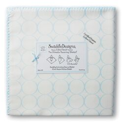 Organic Ultimate Receiving Blanket� in Pastel Mod Circles on Ivory