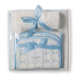 3 Piece Gift Set in Organic Pastel Mod Circles on Ivory