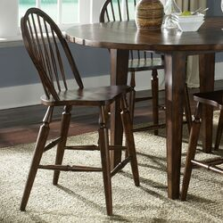 Liberty Furniture Cabin Fever Formal Dining Sawhorse Barstool in ...