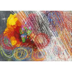 Cyclonic Abstraction II Hand Painted Wall Art