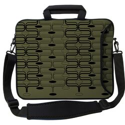 Executive Sleeves Olive Retro Curves PC Laptop Bag