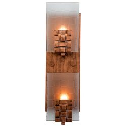 Recycled Dreamweaver Wall Sconce - Vertical Two Light