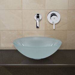 Vessel Sink with Wall Mount Faucet