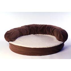 Ortho Sleeper Bolster Dog Bed in Chocolate