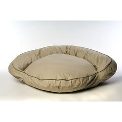 Classic Twill Bolster Dog Bed