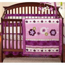 Pretty in Purple Secure-Me Mesh Crib Liner
