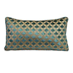 Small Madonna Pillow in Teal/Gold
