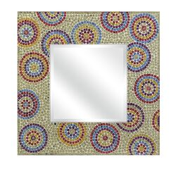 Kawela Mosaic Glass Wall Mirror