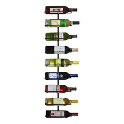 9 Bottle Wine Ledge Wall Rack