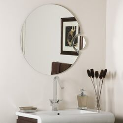 Frameless Wall Mirror with Magnification