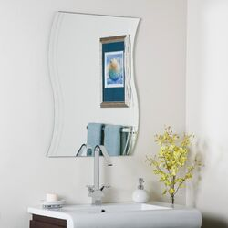 Frameless Surf Wall Mirror