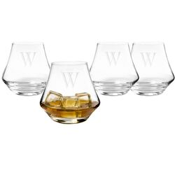 Personalized Contemporary Whiskey Glasses