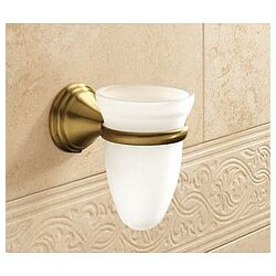Romance Frosted Glass Toothbrush Holder