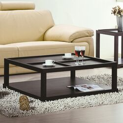 Parson Coffee Table with Removable Tray