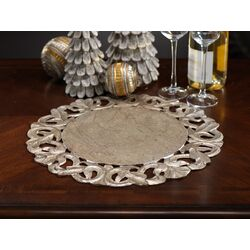 Scroll Design Wooden Placemat
