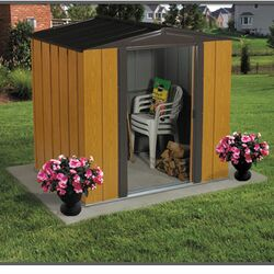 Woodlake 6' W x 5' D Steel Storage Shed