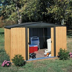 Woodlake 8' W x 6' D Steel Storage Shed