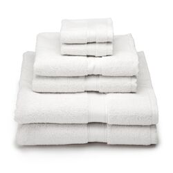 Supreme Egyptian Cotton 6 Piece Towel Set in White