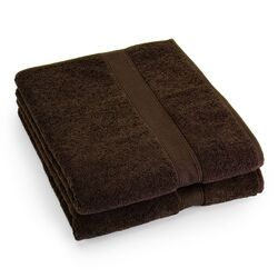 Supreme Egyptian Cotton Bath Sheet in Chocolate (Set of 2)