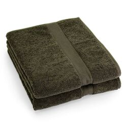 Supreme Egyptian Cotton Bath Sheet in Fern (Set of 2)