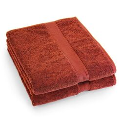 Supreme Egyptian Cotton Bath Sheet in Rust (Set of 2)
