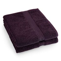 Supreme Egyptian Cotton Bath Sheet in Plum (Set of 2)