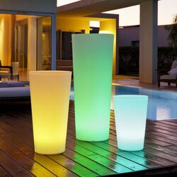 Tango Luminous Round Pot Planter