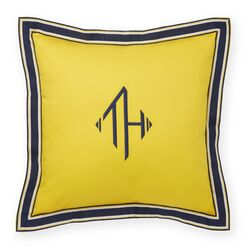 Monogram Grosgrain Flange Decorative Throw Pillow