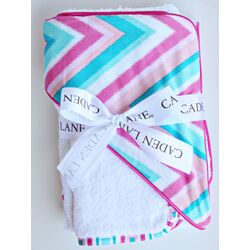 Ikat Chevron Hooded Towel Set