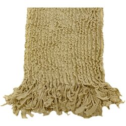 Charlotte Ruffled Acrylic Throw Blanket