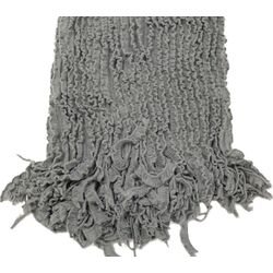Charlotte Ruffled Acrylic Throw Blanket