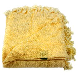 Marion Woven Acrylic Throw in Yellow