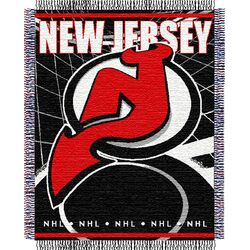 NHL New Jersey Devils Triple Woven Jacquard Acrylic Throw