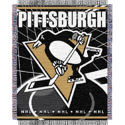 NHL Pittsburgh Penguins Triple Woven Jacquard Acrylic Throw