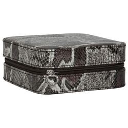 Rayne Python Faux Leather Travel Jewelry Case