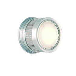 Gear One Light Outdoor Wall / Ceiling Light in Satin Aluminum