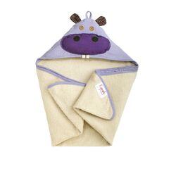 Purple Hippo Hooded Towel