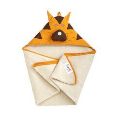 Orange Tiger Hooded Towel