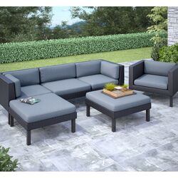 Oakland 6 Piece Lounge Seating Group with Cushion