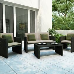 Creekside 4 Piece Lounge Seating Group with Cushions