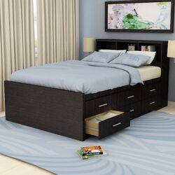 Willow Captain's Bookcase Storage Platform Bed