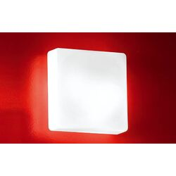 Cube Wall Sconce in White